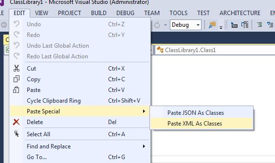 Paste XML as Class